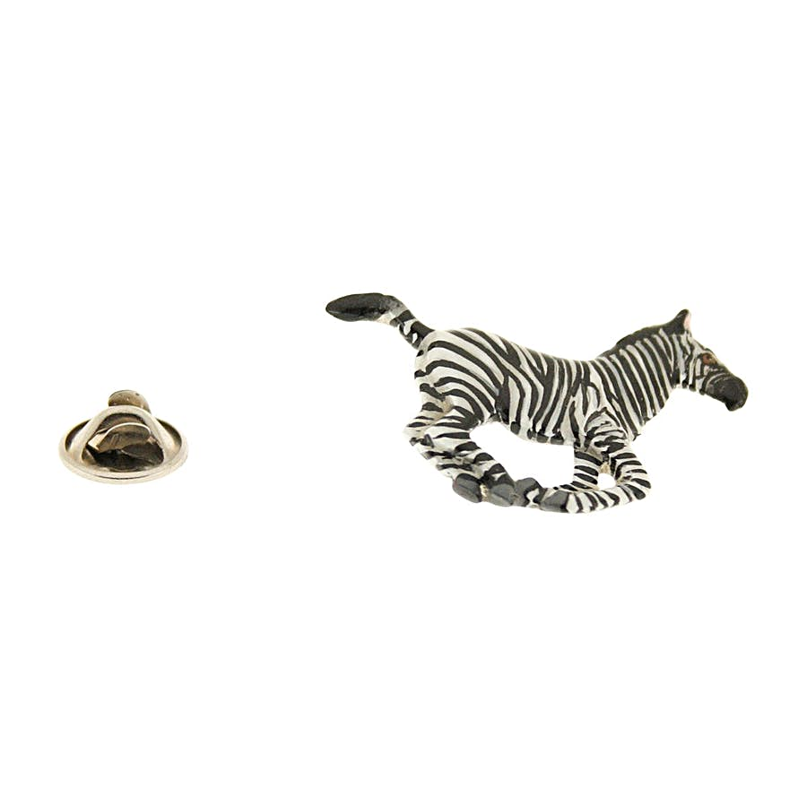 Running Zebra Pin ~ Hand Painted ~ Lapel Pin ~ Hand Painted Lapel Pin ~ Sarah's Treats & Treasures