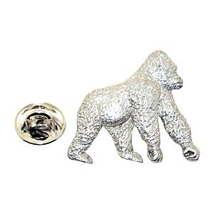 Gorilla Pin ~ Antiqued Pewter ~ Lapel Pin ~ Sarah's Treats & Treasures