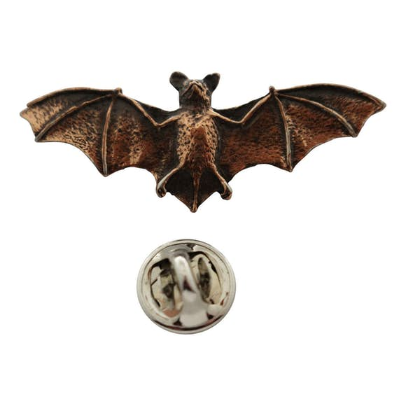 Bat Pin ~ Antiqued Copper ~ Lapel Pin ~ Sarah's Treats & Treasures