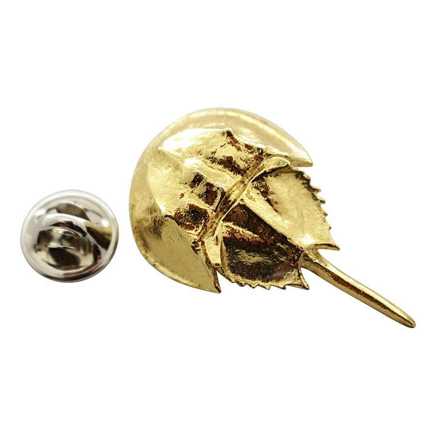 Horseshoe Crab Pin ~ 24K Gold ~ Lapel Pin ~ 24K Gold Lapel Pin ~ Sarah's Treats & Treasures