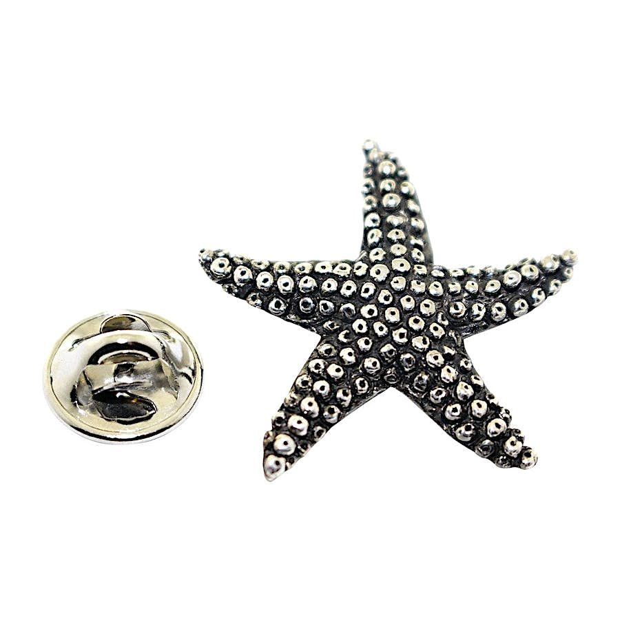 Starfish Pin ~ Antiqued Pewter ~ Lapel Pin ~ Sarah's Treats & Treasures