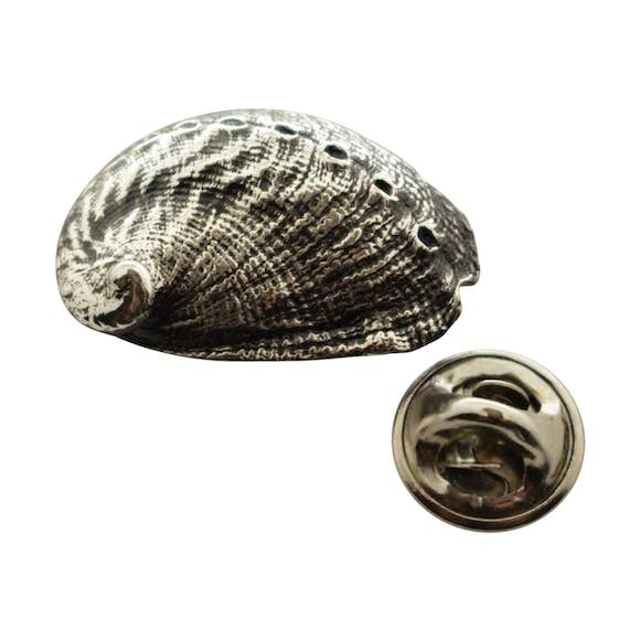 Abalone Shell Pin ~ Antiqued Pewter ~ Lapel Pin ~ Sarah's Treats & Treasures