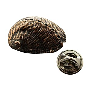 Abalone Shell Pin ~ Antiqued Copper ~ Lapel Pin ~ Sarah's Treats & Treasures