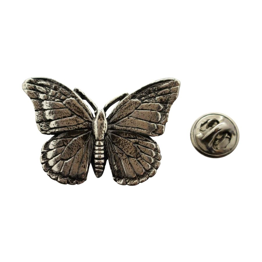 Monarch Butterfly Pin ~ Antiqued Pewter ~ Lapel Pin ~ Sarah's Treats & Treasures