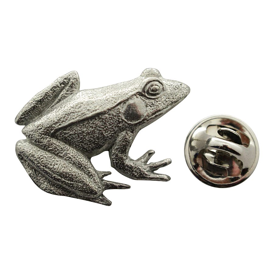 Frog Pin ~ Antiqued Pewter ~ Lapel Pin ~ Sarah's Treats & Treasures