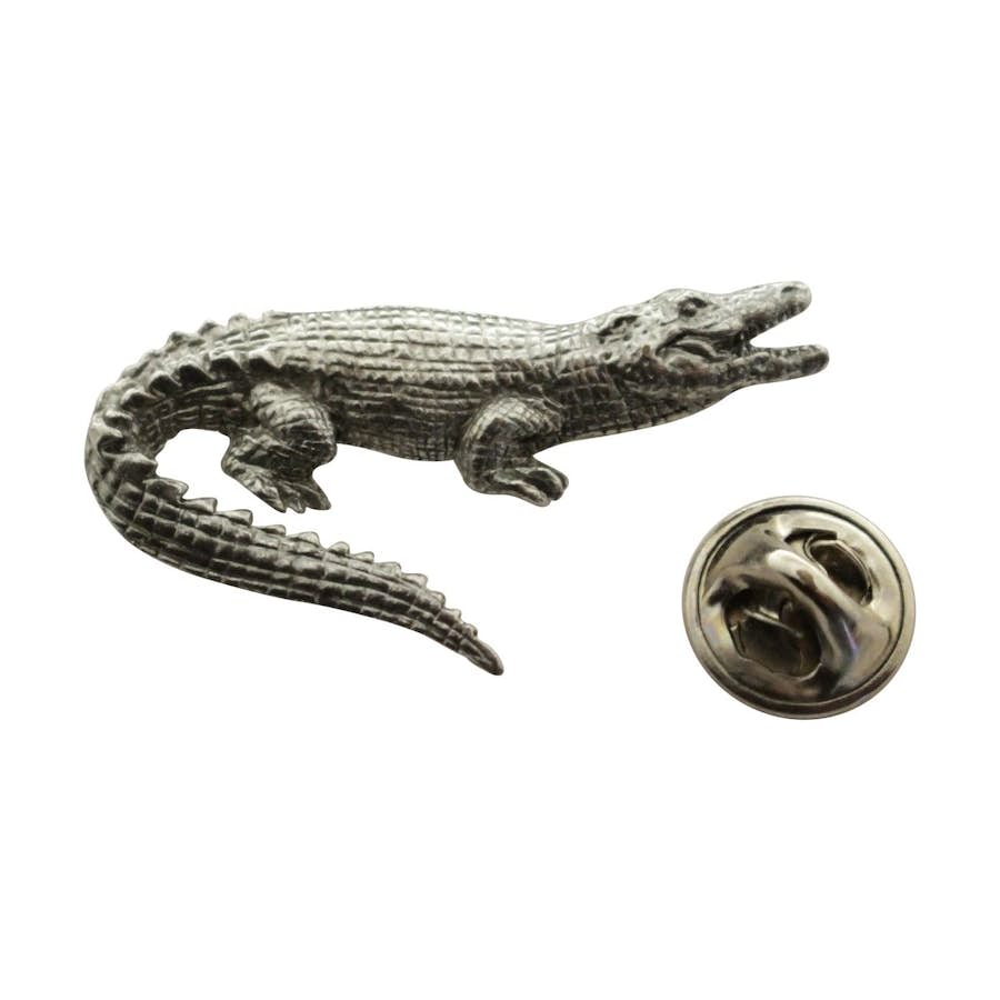 Alligator Pin ~ Antiqued Pewter ~ Lapel Pin ~ Sarah's Treats & Treasures