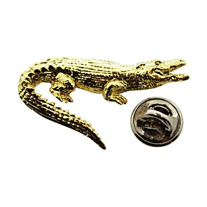 Alligator Pin ~ 24K Gold ~ Lapel Pin ~ Sarah's Treats & Treasures
