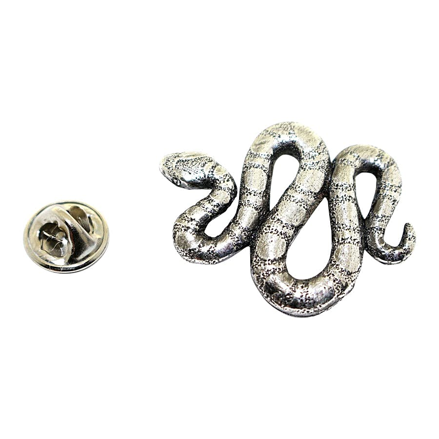 Snake Pin ~ Antiqued Pewter ~ Lapel Pin ~ Sarah's Treats & Treasures