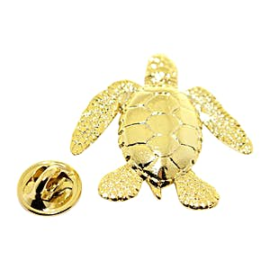 Sea Turtle Pin ~ 24K Gold ~ Lapel Pin ~ 24K Gold Lapel Pin ~ Sarah's Treats & Treasures