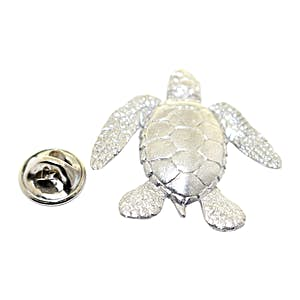 Sea Turtle Pin ~ Antiqued Pewter ~ Lapel Pin ~ Sarah's Treats & Treasures