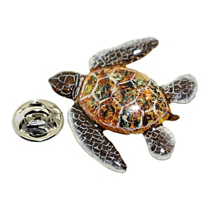 Sea Turtle Pin ~ Hand Painted ~ Lapel Pin ~ Hand Painted Lapel Pin ~ Sarah's Treats & Treasures