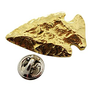 Arrowhead Pin ~ 24K Gold ~ Lapel Pin ~ Sarah's Treats & Treasures