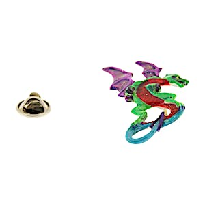 Medieval Dragon Pin ~ Hand Painted ~ Lapel Pin ~ Hand Painted Lapel Pin ~ Sarah's Treats & Treasures
