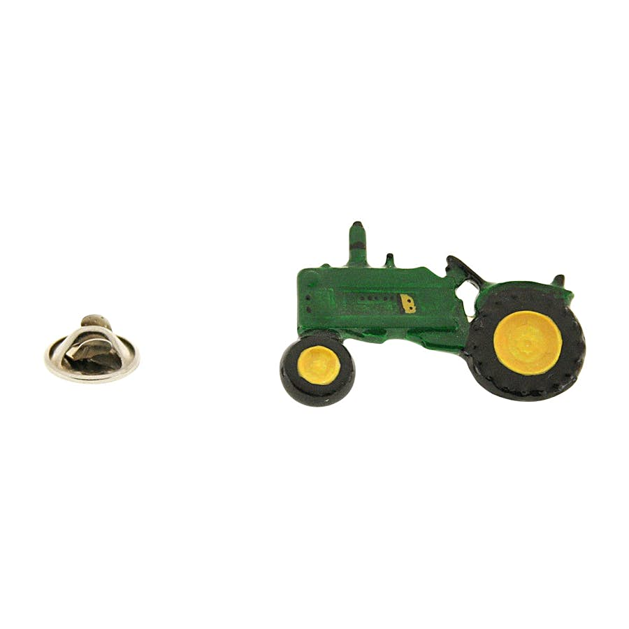 Model 3020 Tractor Pin ~ Hand Painted ~ Lapel Pin ~ Hand Painted Lapel Pin ~ Sarah's Treats & Treasures