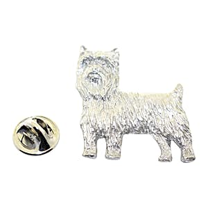 Yorkshire Terrier or Yorkie Pin ~ Antiqued Pewter ~ Lapel Pin ~ Sarah's Treats & Treasures