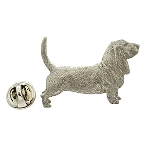 Basset Hound Pin ~ Antiqued Pewter ~ Lapel Pin ~ Sarah's Treats & Treasures