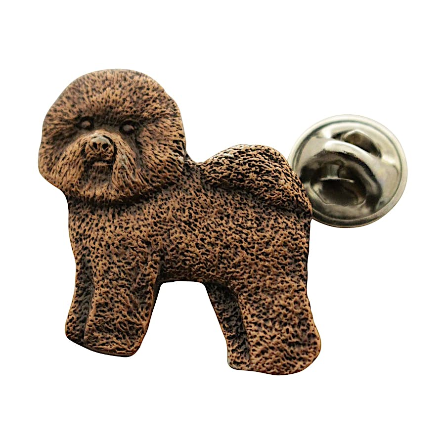 Bichon Frise Pin ~ Antiqued Copper ~ Lapel Pin ~ Sarah's Treats & Treasures