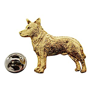 Australian Cattle Dog Pin ~ 24K Gold ~ Lapel Pin ~ Sarah's Treats & Treasures