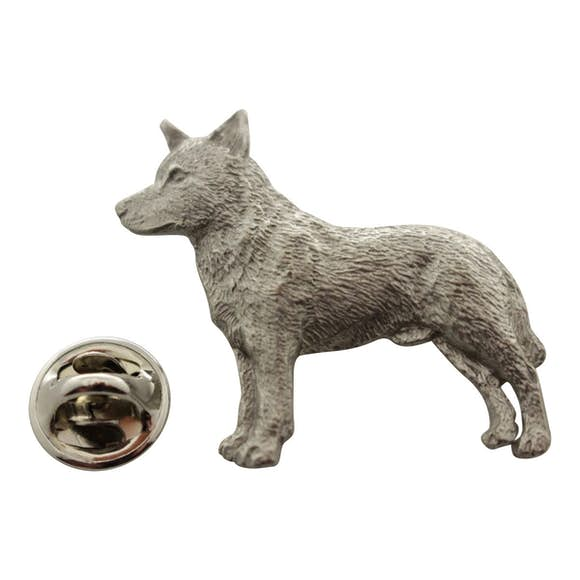 Australian Cattle Dog Pin ~ Antiqued Pewter ~ Lapel Pin ~ Sarah's Treats & Treasures