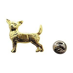 Chihuahua Pin ~ 24K Gold ~ Lapel Pin ~ Sarah's Treats & Treasures