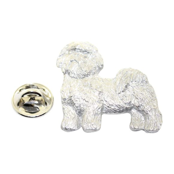 Shih Tzu Pin ~ Antiqued Pewter ~ Lapel Pin ~ Sarah's Treats & Treasures