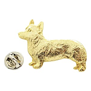 Corgi Pin ~ 24K Gold ~ Lapel Pin ~ 24K Gold Lapel Pin ~ Sarah's Treats & Treasures