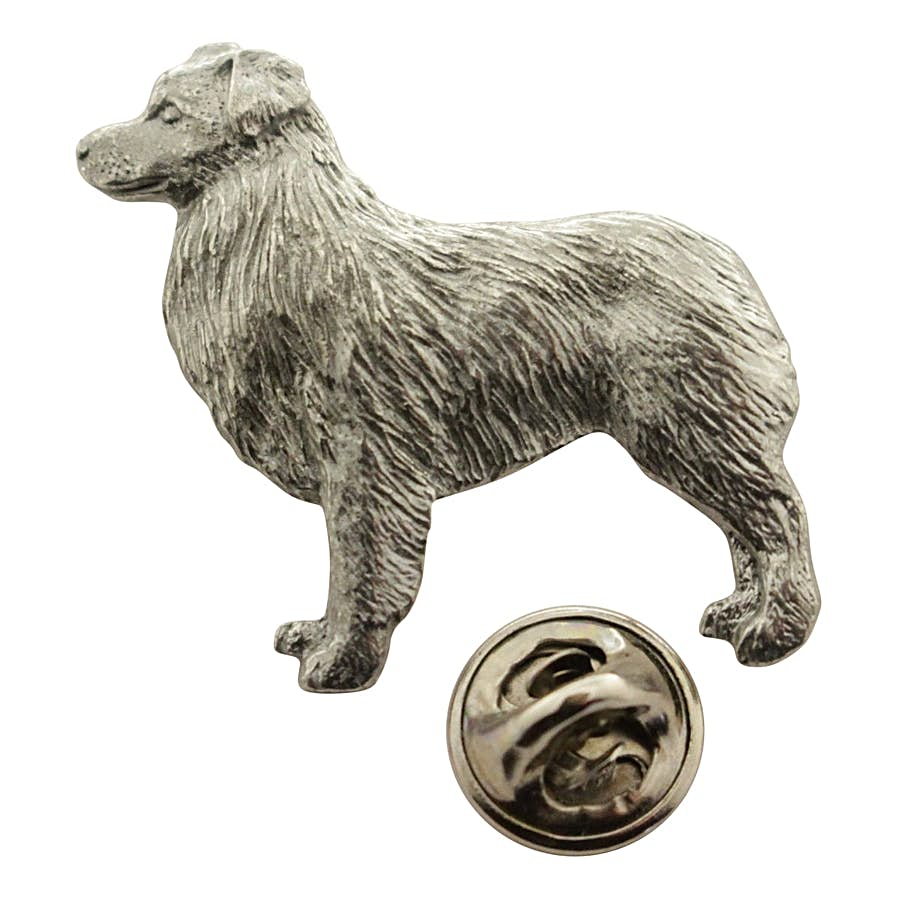 Australian Shepherd or Aussie Shepard Pin ~ Antiqued Pewter ~ Lapel Pin ~ Sarah's Treats & Treasures