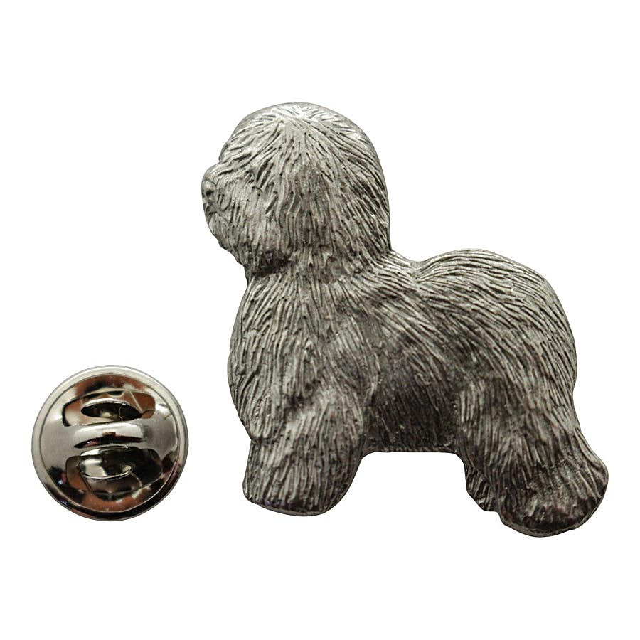 Old English Sheepdog Pin ~ Antiqued Pewter ~ Lapel Pin ~ Sarah's Treats & Treasures