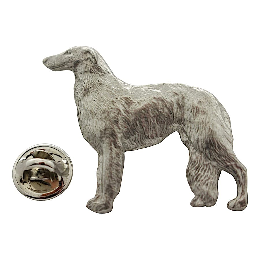 Borzoi Pin ~ Antiqued Pewter ~ Lapel Pin ~ Sarah's Treats & Treasures
