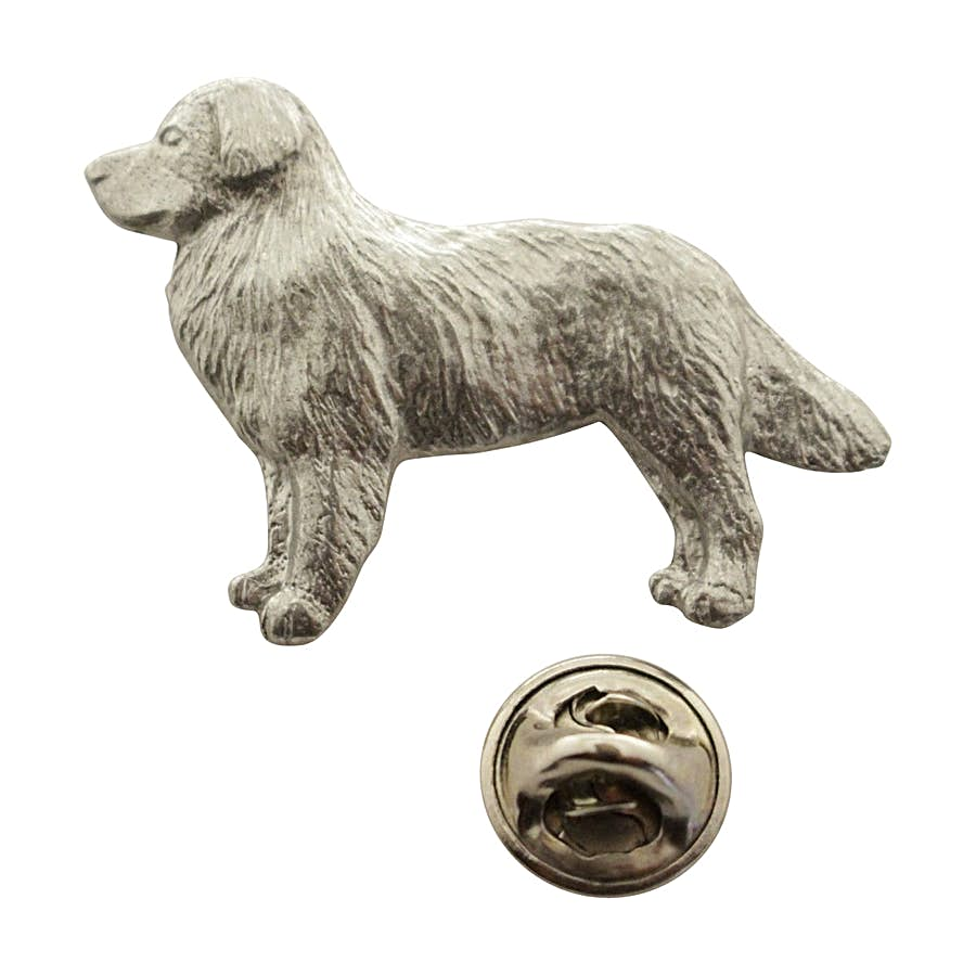 Bernese Mountain Dog Pin ~ Antiqued Pewter ~ Lapel Pin ~ Sarah's Treats & Treasures