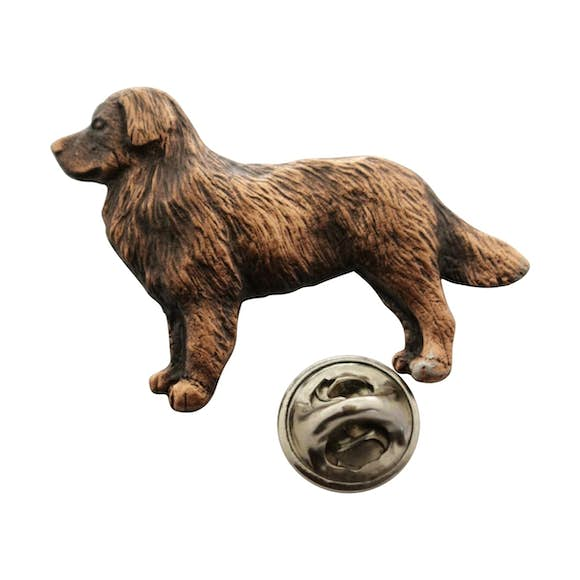 Bernese Mountain Dog Pin ~ Antiqued Copper ~ Lapel Pin ~ Sarah's Treats & Treasures