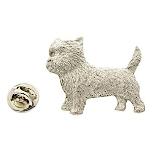 Cairn Terrier Pin ~ Antiqued Pewter ~ Lapel Pin ~ Antiqued Pewter Lapel Pin ~ Sarah's Treats & Treasures