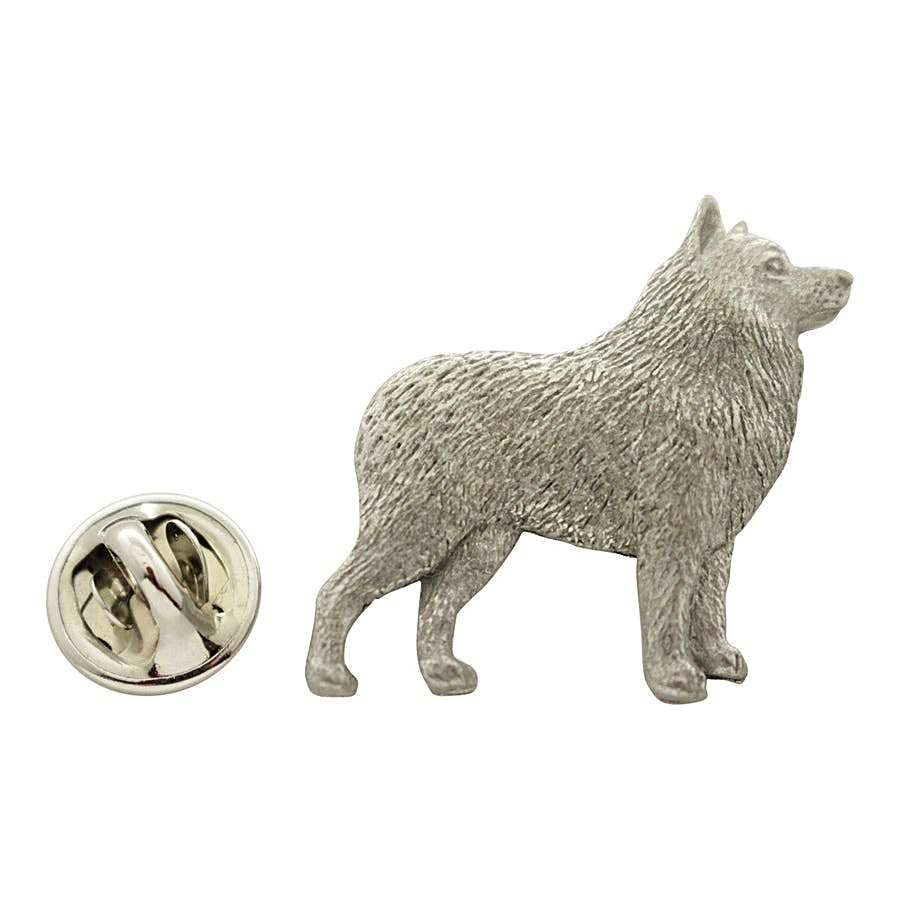 Schipperke Pin ~ Antiqued Pewter ~ Lapel Pin ~ Sarah's Treats & Treasures