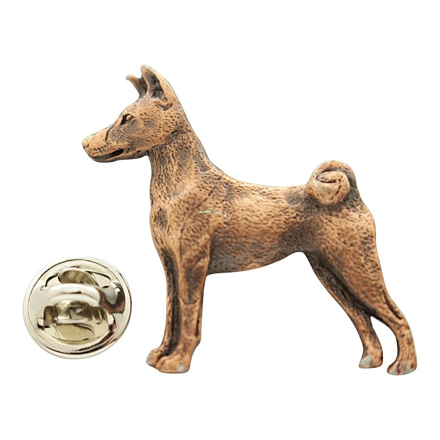 Basenji Pin ~ Antiqued Copper ~ Lapel Pin ~ Sarah's Treats & Treasures