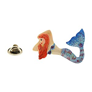 Red Head Mermaid Pin ~ Hand Painted ~ Lapel Pin ~ Hand Painted Lapel Pin ~ Sarah's Treats & Treasures