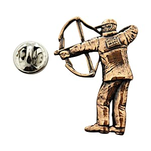 Compound Bow Hunter Pin ~ Antiqued Copper ~ Lapel Pin ~ Sarah's Treats & Treasures