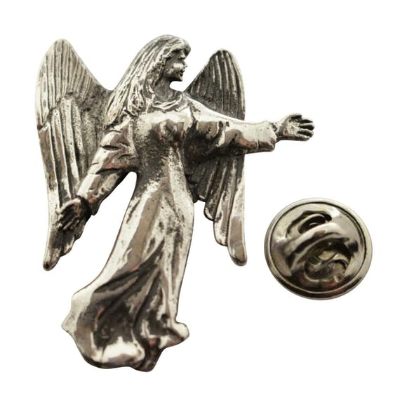 Angel Pin ~ Antiqued Pewter ~ Lapel Pin ~ Sarah's Treats & Treasures