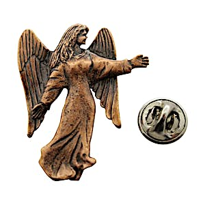 Angel Pin ~ Antiqued Copper ~ Lapel Pin ~ Sarah's Treats & Treasures