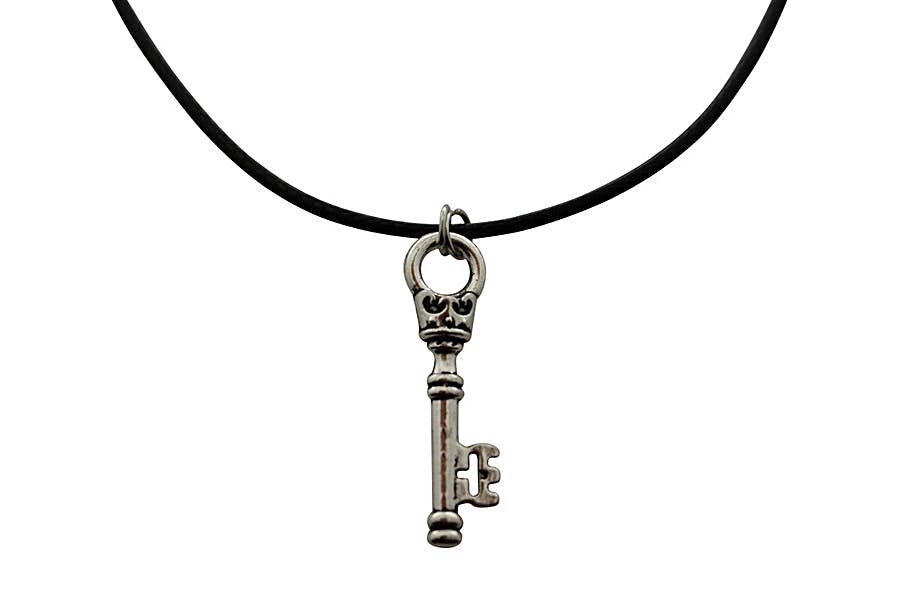 Crowning Heart Necklace ~ Antiqued Silver ~ Key to My Heart Necklace ~ Key To My Heart Necklace ~ Sarah's Treats & Treasures