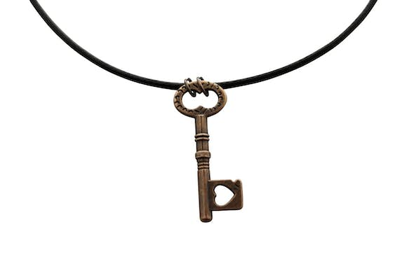 Lovers Heart Necklace ~ Antiqued Copper ~ Key to My Heart Necklace ~ Key To My Heart Necklace ~ Sarah's Treats & Treasures