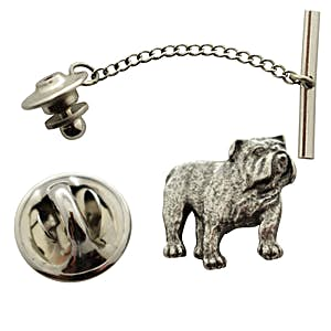 Bulldog Tie Tack ~ Antiqued Pewter ~ Tie Tack or Pin ~ Antiqued Pewter Tie Tack or Pin ~ Sarah's Treats & Treasures