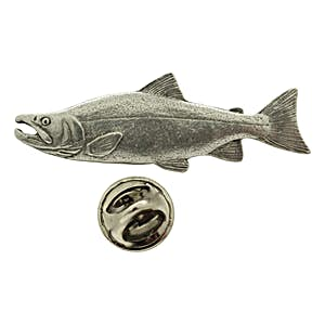 Sockeye or Red Salmon Pin ~ Antiqued Pewter ~ Lapel Pin ~ Sarah's Treats & Treasures