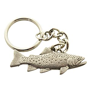 Brook Trout Keychain ~ Antiqued Pewter ~ Keychain ~ Sarah's Treats & Treasures