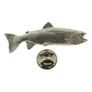 Female Steelhead Pin ~ Antiqued Pewter ~ Lapel Pin ~ Sarah's Treats & Treasures