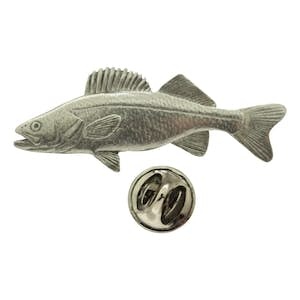 Walleye Pin ~ Antiqued Pewter ~ Lapel Pin ~ Sarah's Treats & Treasures