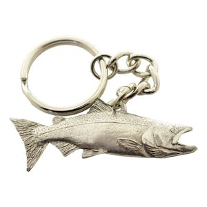 Chinook Salmon Keychain ~ Antiqued Pewter ~ Keychain ~ Antiqued Pewter Keychain ~ Sarah's Treats & Treasures