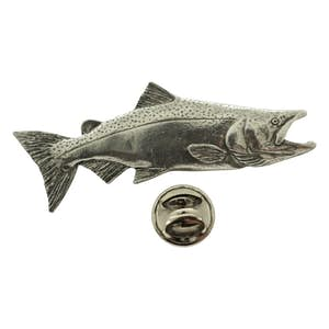 Chinook or King Salmon Pin ~ Antiqued Pewter ~ Lapel Pin ~ Antiqued Pewter Lapel Pin ~ Sarah's Treats & Treasures