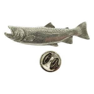 Male Steelhead Pin ~ Antiqued Pewter ~ Lapel Pin ~ Sarah's Treats & Treasures