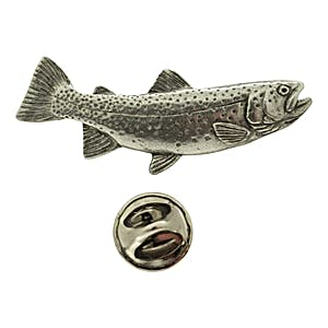 Cutthroat Trout Pin ~ Antiqued Pewter ~ Lapel Pin ~ Antiqued Pewter Lapel Pin ~ Sarah's Treats & Treasures
