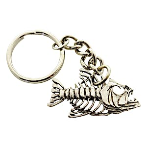 Bony Fish Keychain ~ Antiqued Pewter ~ Keychain ~ Sarah's Treats & Treasures